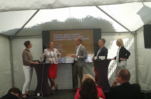 K2 arrangerade sitt seminarium på tema kollektivtrafik och digitalisering på Lunds universitets arena i Almedalen