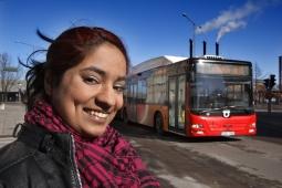 Ungdomarna i studien var generellt positiva till att resa med kollektivtrafiken