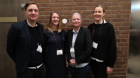 Fr v Alexander Paulsson, Malin Aldenius, Helene Lidestam och Carolina Camén.