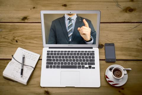 Digitalt möte pågår