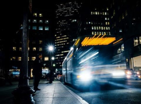 Buss på natten